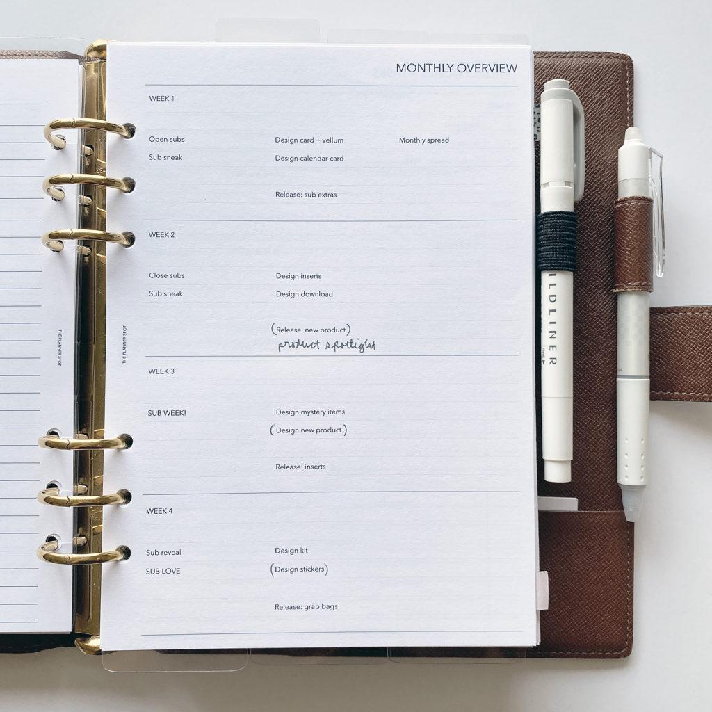 planning goals examples